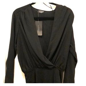 Zara black body suit shirt